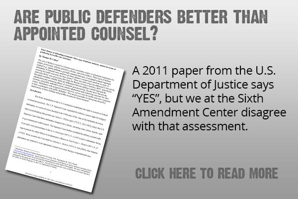 DOJ report promote public defenders