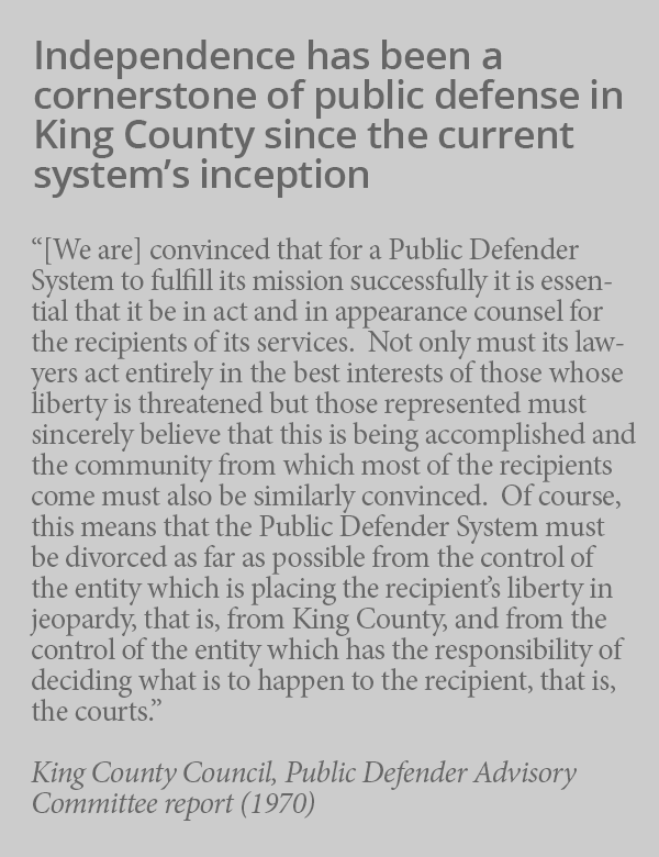Sidebar on King County independence