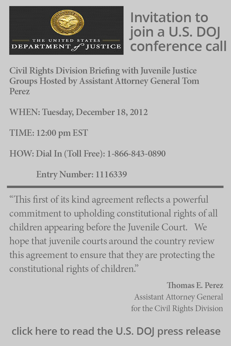 DOJ conference call invite