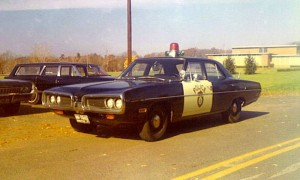 Manchester CT police car, 1970